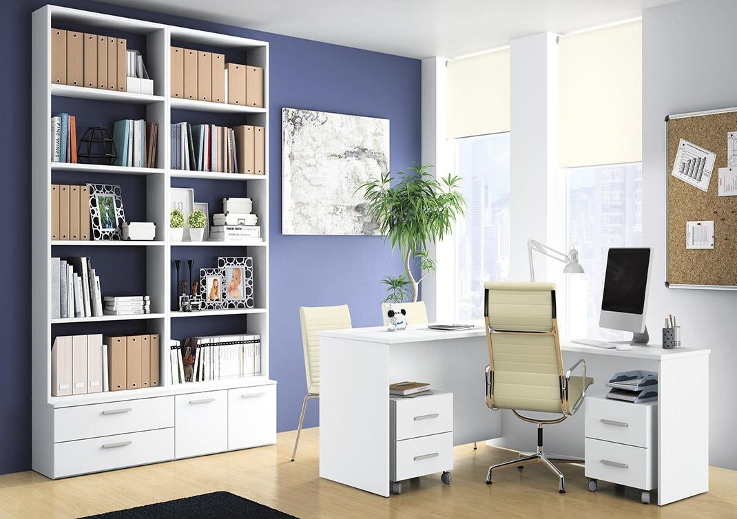 crea un espacio para el escritorio de papa