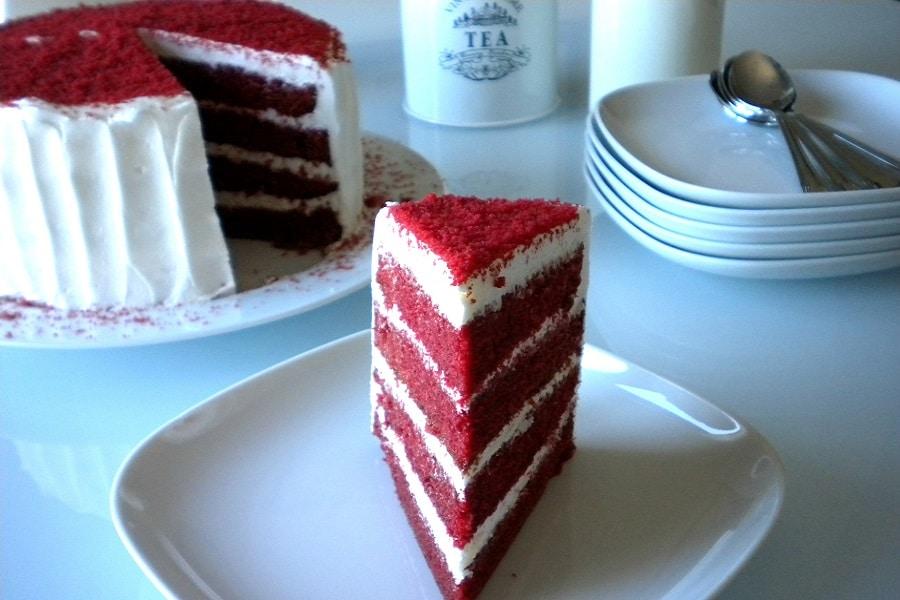 la receta de pastel Red Velvet