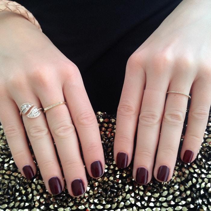 manicure para novias en rojo