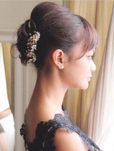 peinados recogidos de novia para pelo corto