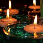 decoracion con velas flotantes