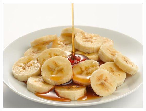 platano, miel y aceite